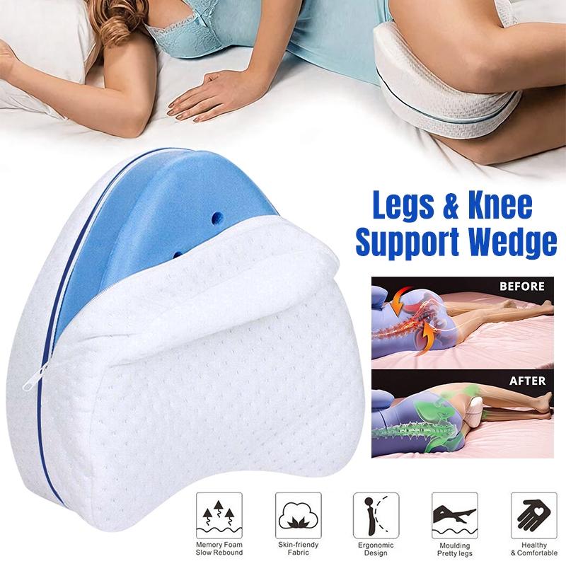pregnant women body memory foam pillow orthopedic knee pillow legs wedge pillow for side sleeper