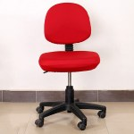 Stretch Soft Swivel Chair Slipcover Office Computer Chair Covers Red