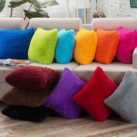 bestseller soft plush throw pillowcase faux fur pillow cover