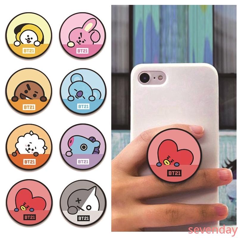 Sevenday - HOTT!! Cute Cartoon BTS Phone Bracket BT21 Cartoon Bracket Telescopic Airbag Bracket Popsocket | Shopee Philippines