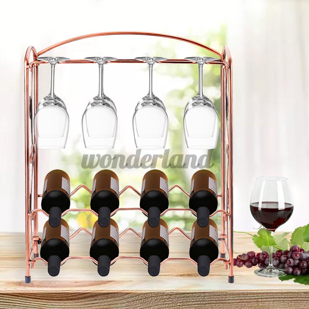 hot wrought iron folding wine rack creative wine glass rack hanging wine glass rack