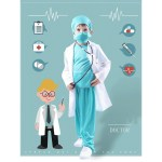 Kid Doctor Costume Child Uniform Doctor Surgeon Costume Suit Cosplay With Doctor Cap Shopee Philippines
