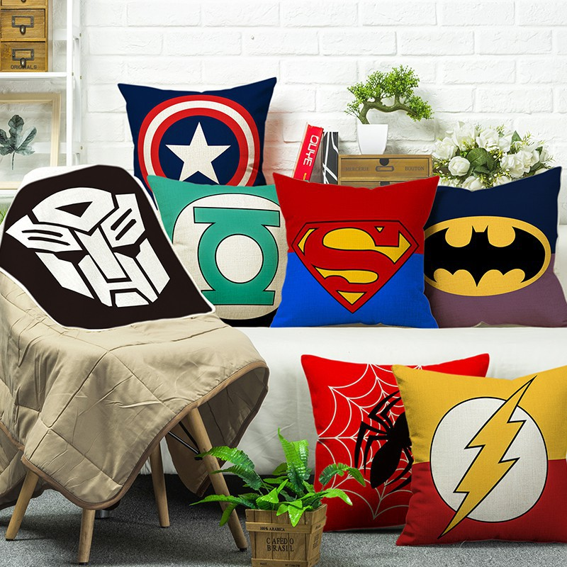 marvel american captain pillow case spider man iron man cushion cover
