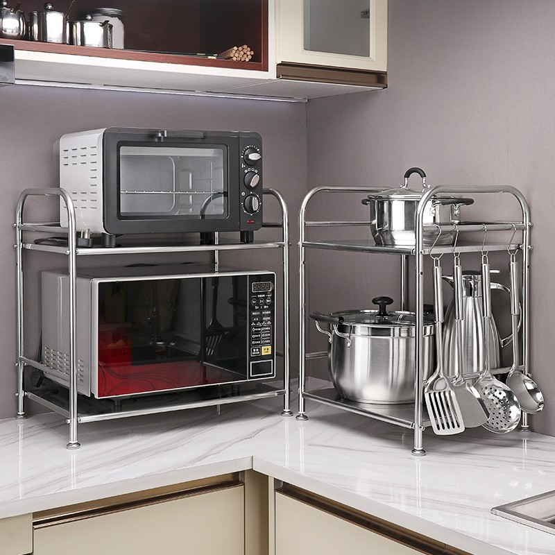 stainless steel kitchen microwave oven rack multi function double oven bracket