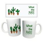 Ceramic Coffee Mugs With Permanent Cactus Succulent Design Shopee Philippines