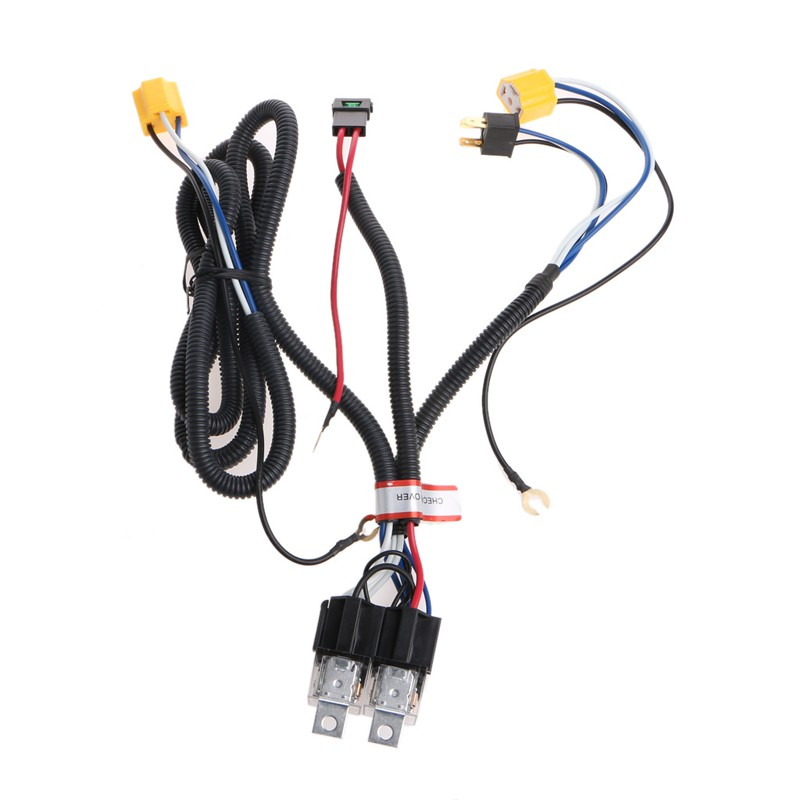 H4 Headlight Fix Dim Light Relay Wiring Harness System 2