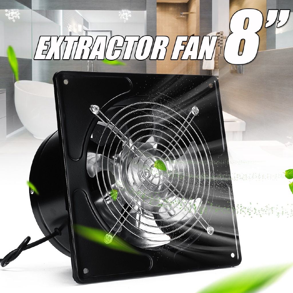 8 silent wall extractor ventilation fan duct exhaust cool