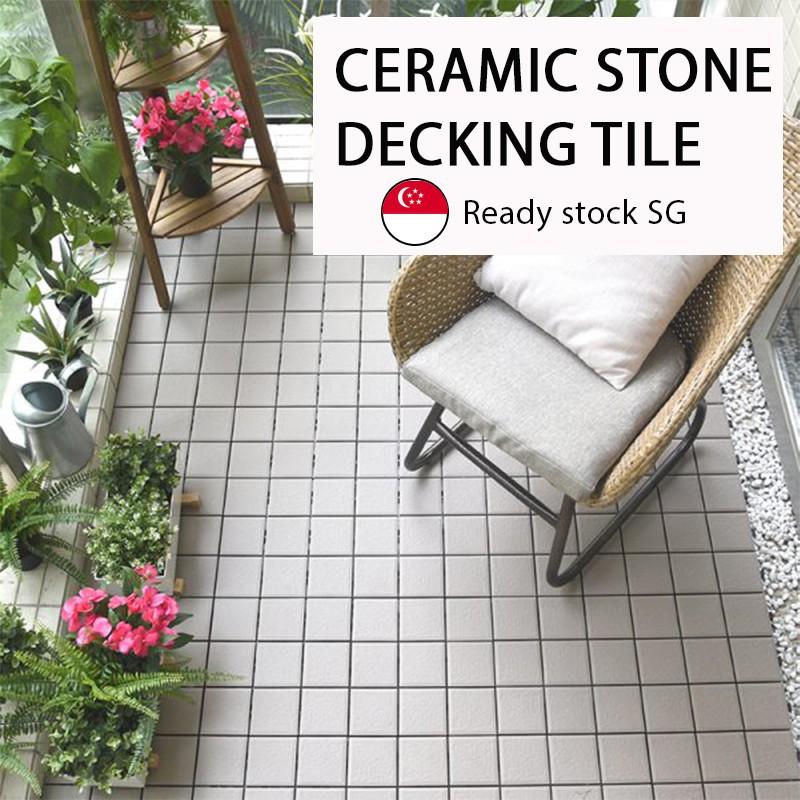 dekorea ceramic stone deck flooring tile balcony interlocking system outdoor indoor home decoration wood