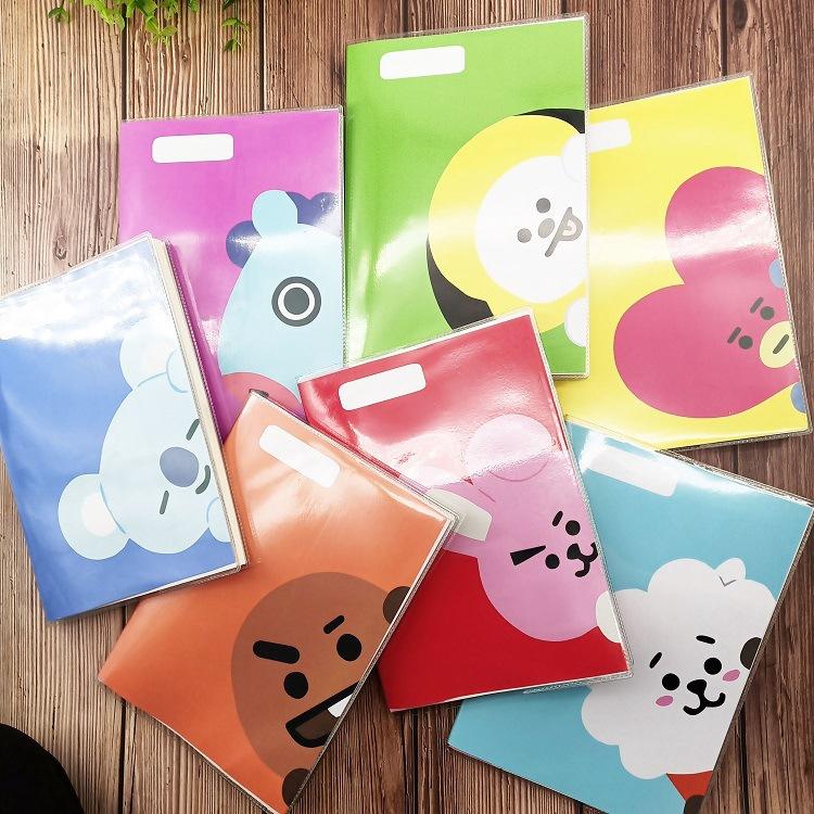BTS notebook BT21 cartoon rubber sleeve diary | Shopee Singapore