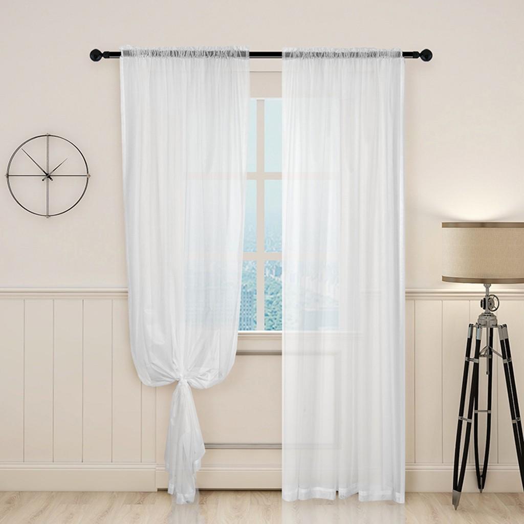 ready lovoski2 3 sizes white sheer voile sliding glass door curtain sheers bedroom light filtering window curtain sheer voiles valance