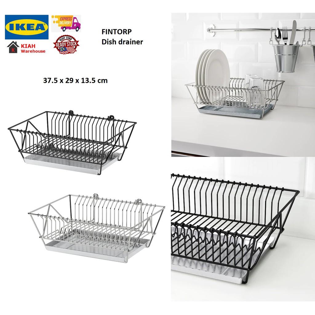 ikea fintorp kitchen rack stainless steel dish rack dish drainer rack rak pinggan mangkuk ikea ready stock