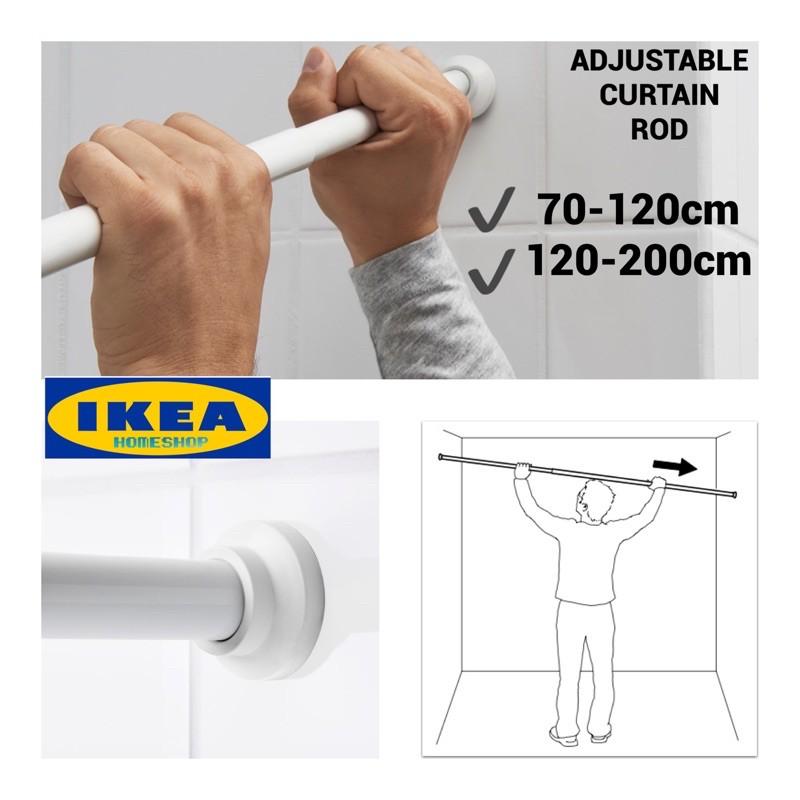ikea botaren adjustable curtain rod rod boleh laras adjustable rod toilet rod