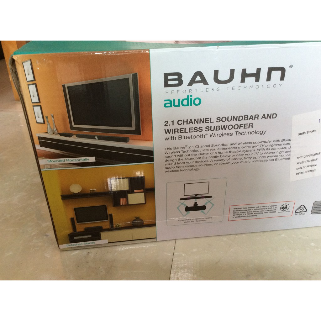 hight resolution of 2 1 channel soundbar and wireless subwoofer with bluetooth wireless home theatre shelf bauhn diagram