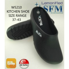 Kitchen Shoes For Men Appliances Restaurant Shoe W5210 Make In Taiwan Black Slipper Sg