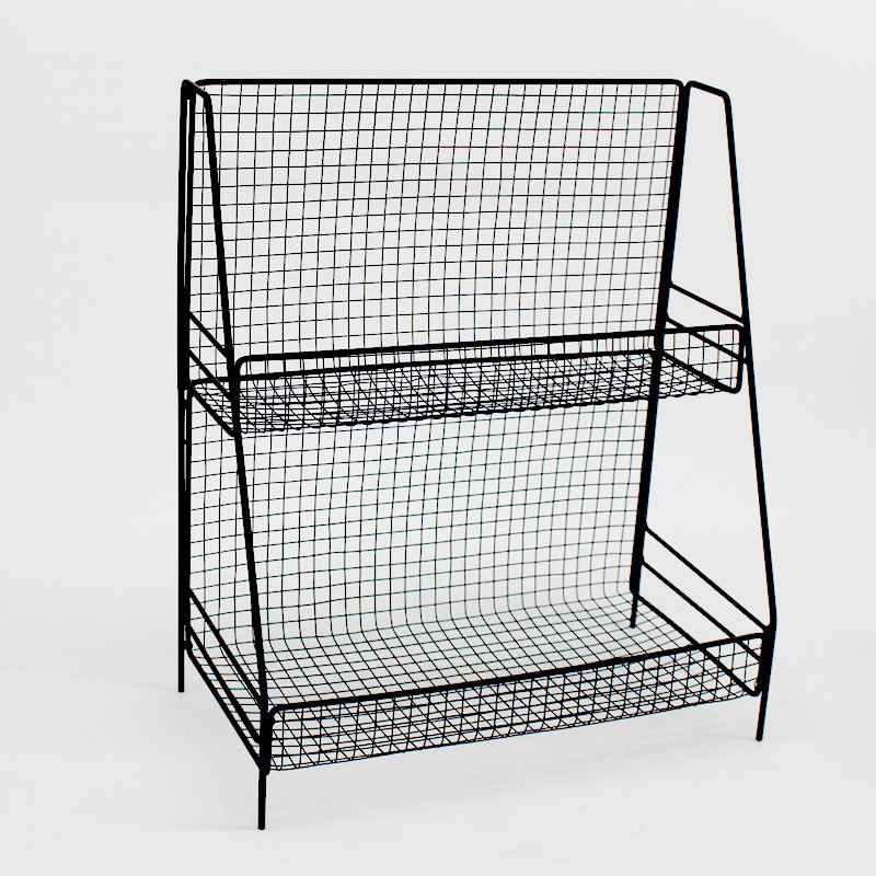 Japanese-style wrought iron multi-function two-tier