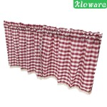 Kloware Check Plaid Gingham Window Curtain Valance Farmhouse Kitchen Curtains 51x16 Shopee Singapore
