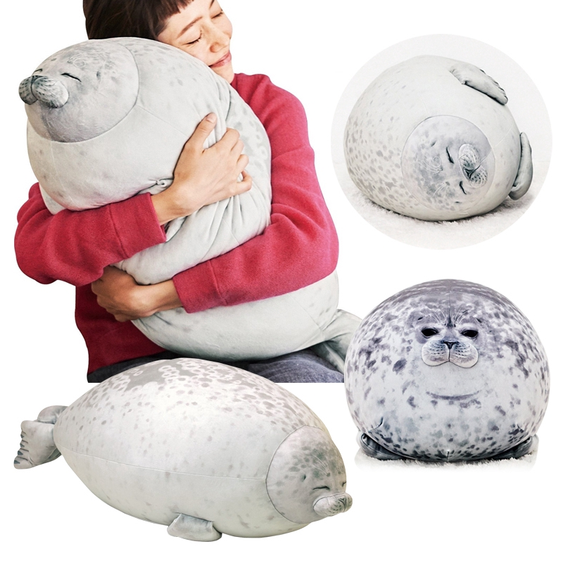 30 40cm osaka japan cute soft chubby seal pillow plush toys christmas gift popular products
