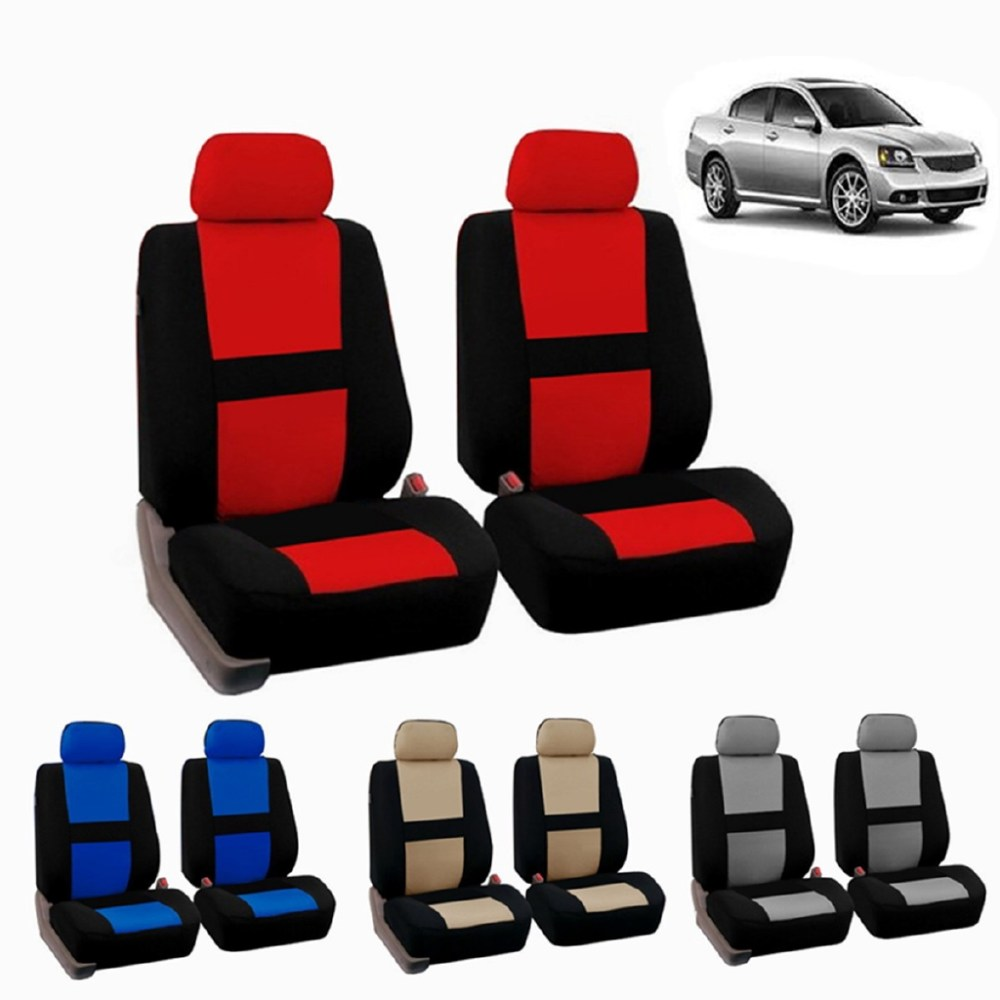 medium resolution of full set car seat covers polyester fit truck suv 2 heads beige blue red gray shopee singapore