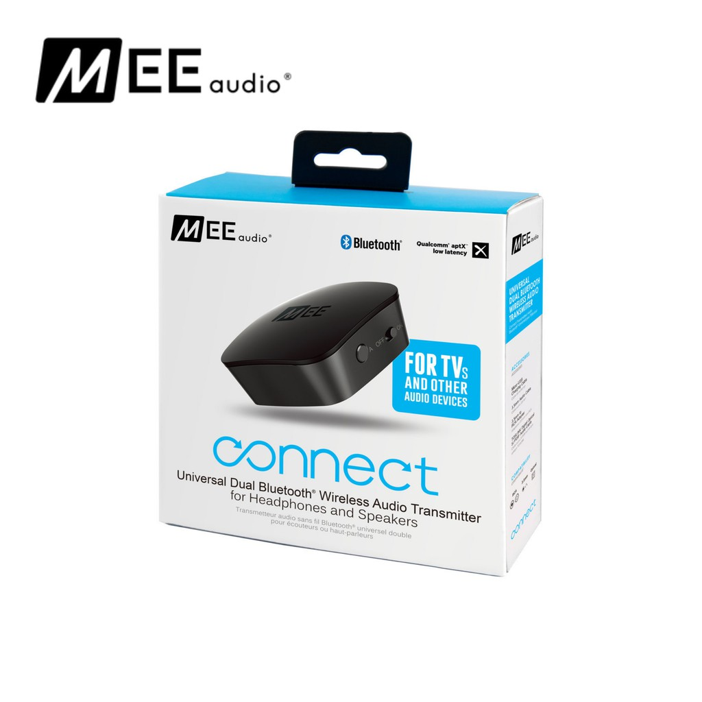 MEE audio Connect Universal Dual Headphone or Dual Speaker Bluetooth Wireless Audio Transmitter for TV | Shopee Singapore