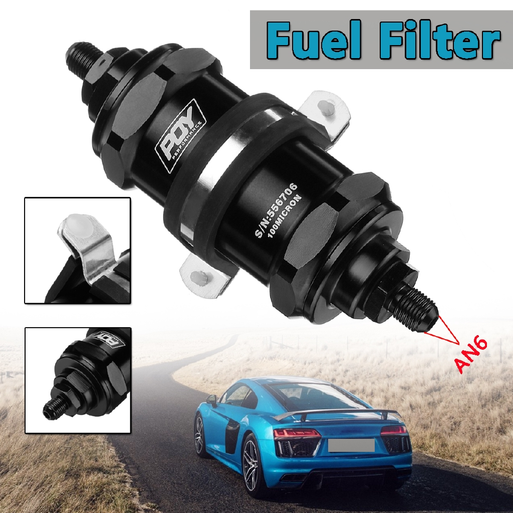 hight resolution of high flow aluminum racing petrol fuel filter 100 micron an6 an8 an10 fitting kit shopee singapore