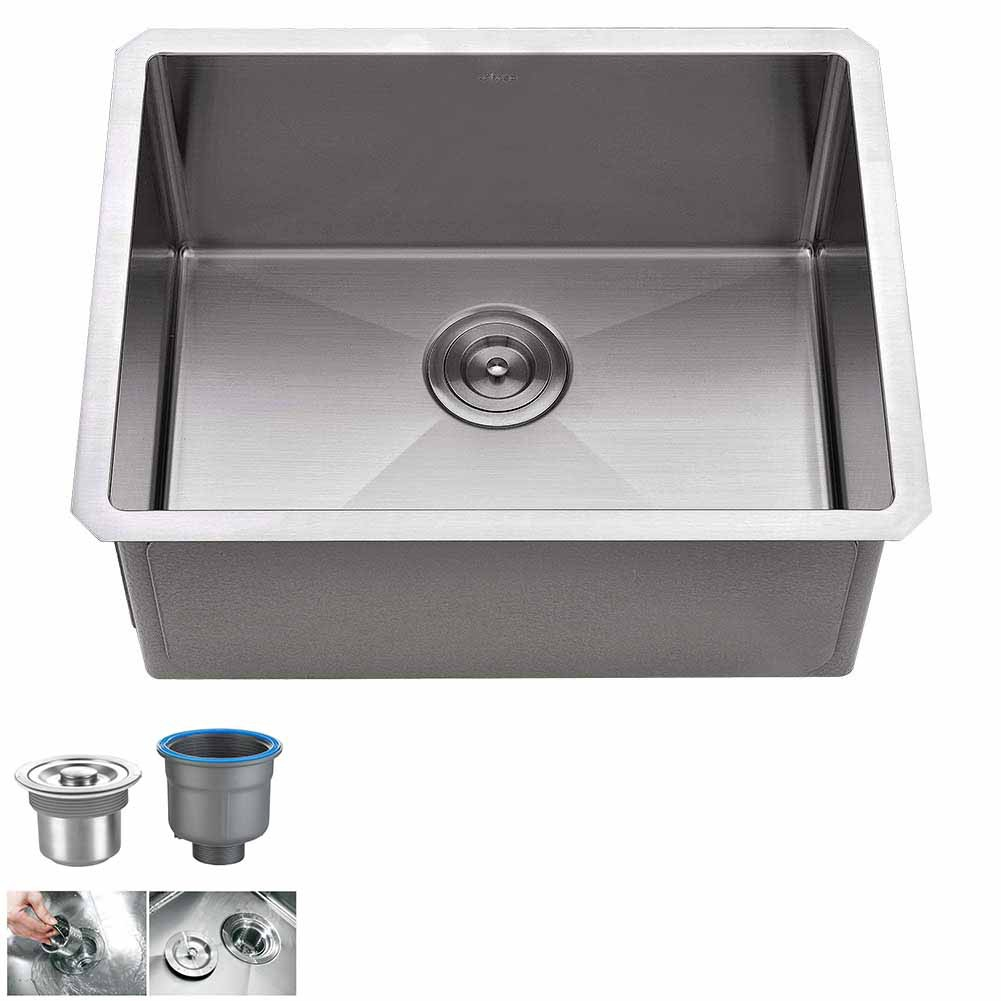 single bowl kitchen sink undermount 18 gauge commercial stainless steel deep laundry utility sink