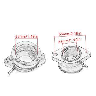 2LN-13586-01 Motorcycle Carburetor Interface Adapter