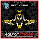 Sticker Motor Decal Motor Honda Beat Karbu Full Body Yellow Graphics Shopee Singapore