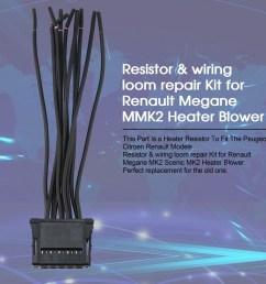 resistor wiring loom repair kit for renault megane mmk2 heater blower shopee singapore [ 970 x 970 Pixel ]