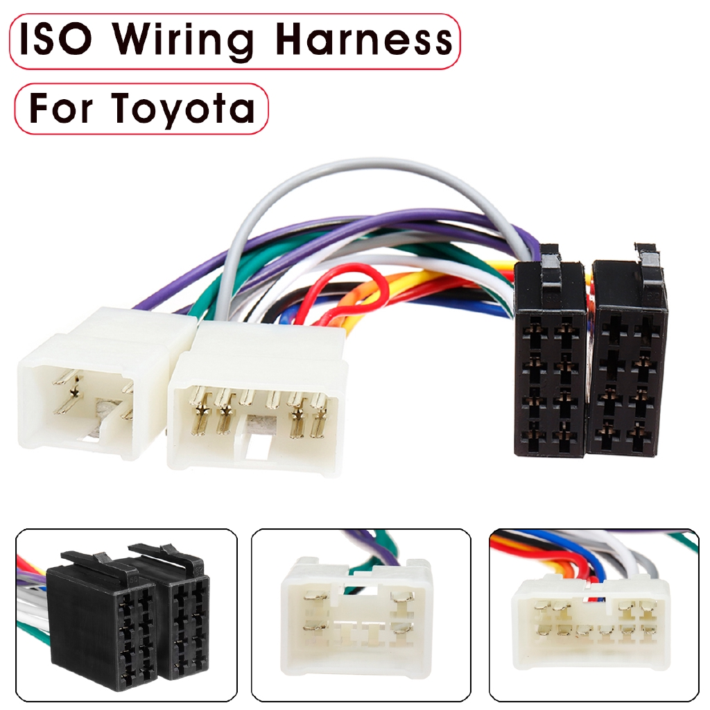hight resolution of non destructive mazda car cd radio audio cord iso plug lossless wiring harness shopee singapore