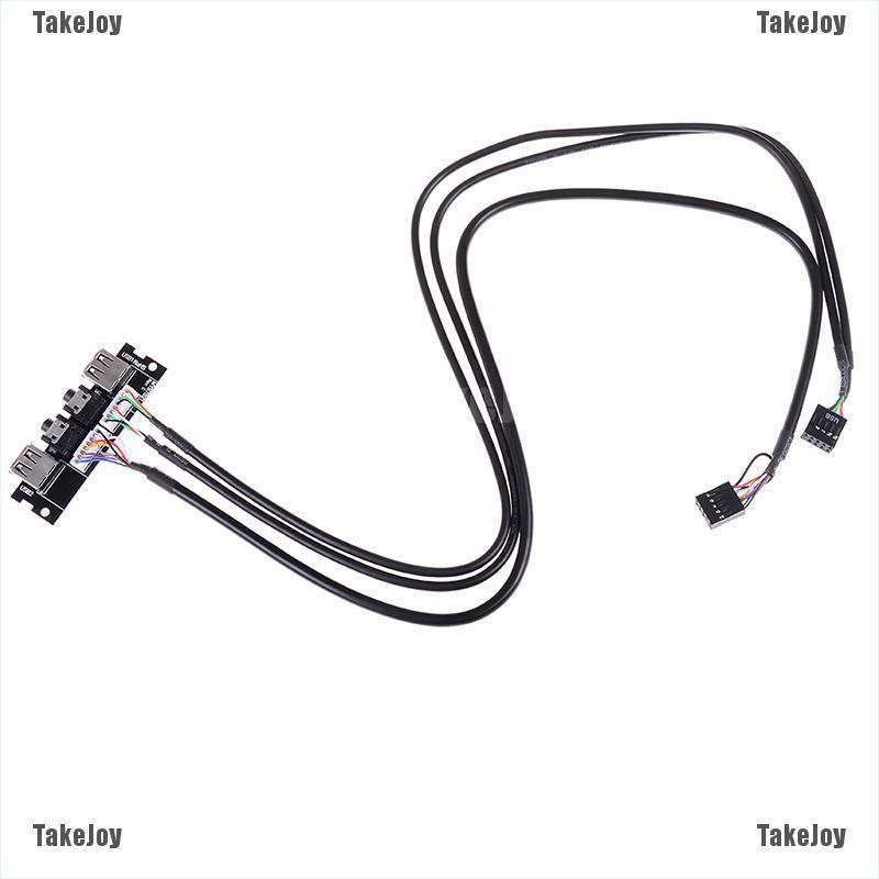 [TakeJoy]1Pc computer front panel usb 2.0 audio port cable
