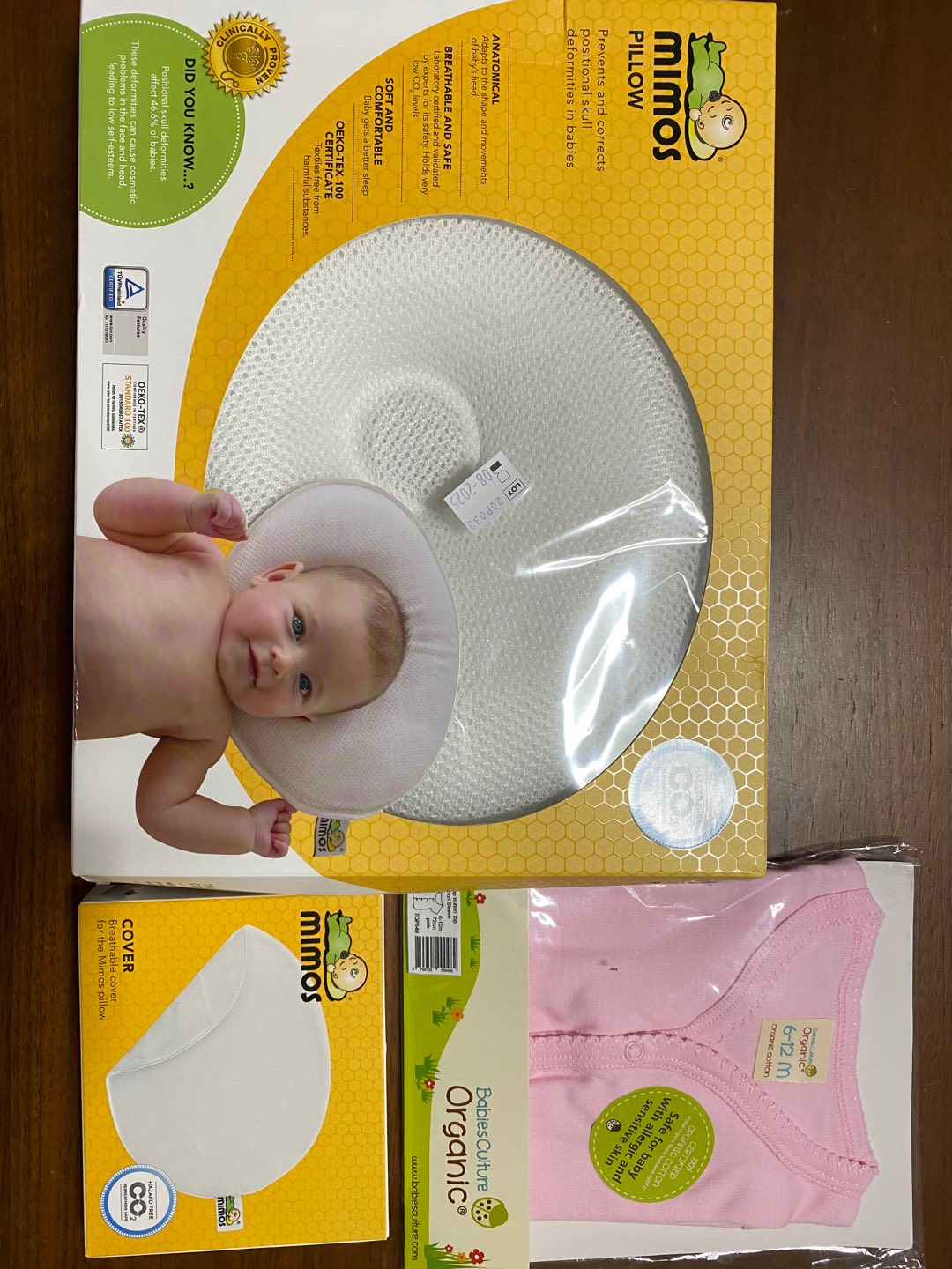 mimos baby pillow size m 6m head size 42 46cm i flat head prevention early treatment