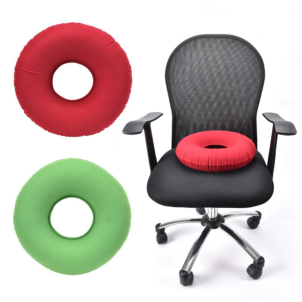 inflatable rubber round seat cushion hemorrhoid pillow donut