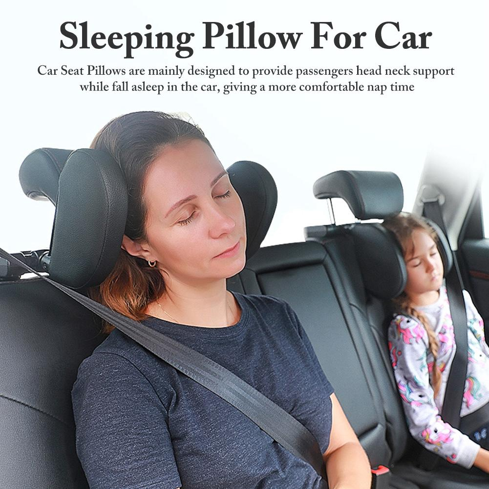 ready stock new 360 adjustable car seat headrest pillow head neck support travel sleeping cushion for kids adults