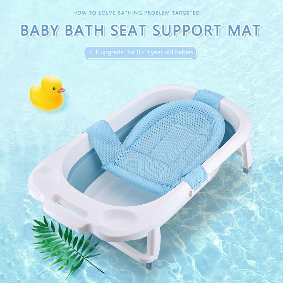 baby bath seat support mat foldable baby bath tub pad chair newborn bathtub pillow infant anti slip soft body cushion