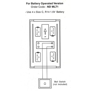 ABB Wired Battery Operated Door Chime suitable for Hotel