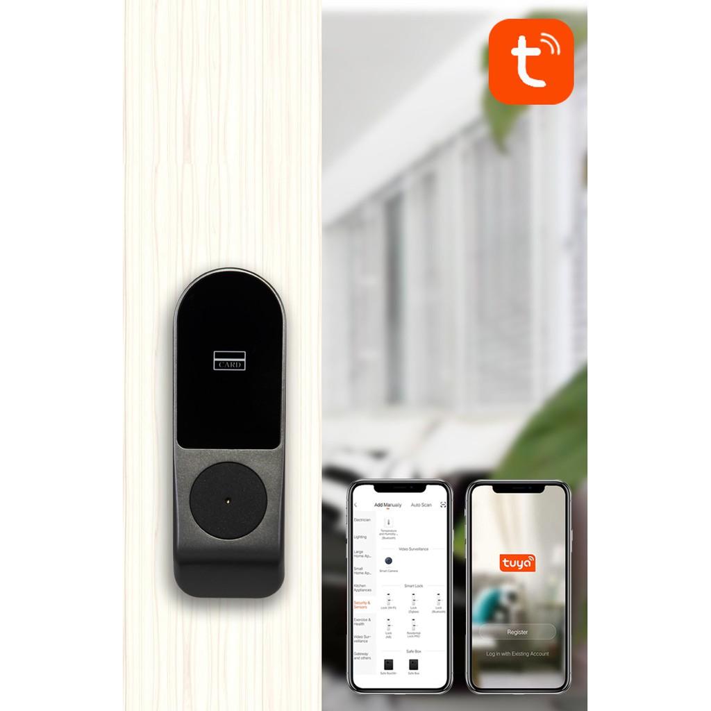 【現貨】塗鴉智能門鎖tuya電控指紋密碼遠程遙控門禁刷卡公寓鎖智能家居電子鎖   蝦皮購物