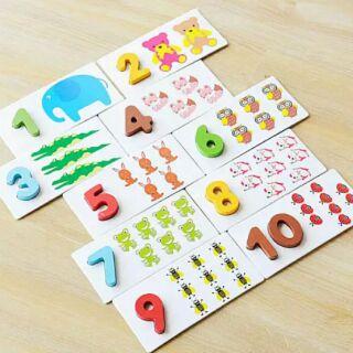 木製益智彩色繪圖卡。26個英文字母A-Z卡片認字卡。1-10數學認知配對教學。字母學習卡。幼稚園教具。兒童早 ...