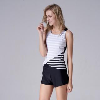大正泳裝 臺灣製 二件式寬口褲泳衣 1801104   蝦皮購物