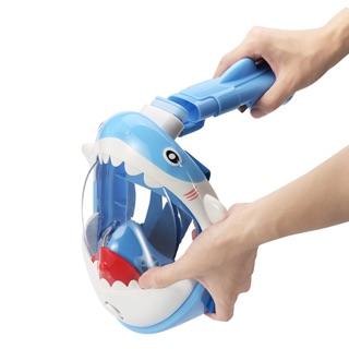 藍鯊魚現貨 兒童 浮潛面罩 全乾式 可愛 運動 鯊魚 恐龍造型 浮潛 動物 運動 玩水裝備 全乾式面鏡 呼吸管 游泳 ...