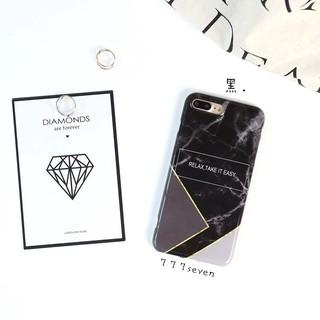 幾何切面大理石字母iPhone6/7系列手機殼 | 蝦皮購物