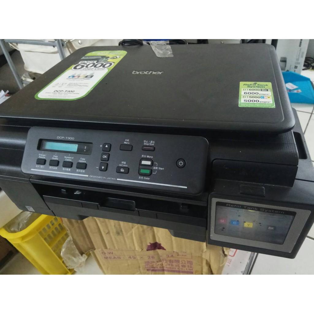 二手印不到1500張 BROTHER DCP-T300 掃描影印連續供墨印表機   蝦皮購物