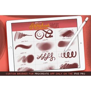 可愛故事書插畫散點蠟筆塗抹噪點自然紋理風格Procreate筆刷素材 | 蝦皮購物