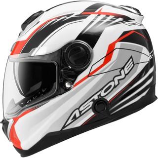 無頭騎士 ASTONE GT-1000F 白/AC6紅 碳纖維 內墨鏡 全可拆洗 通風透氣 吸濕排汗 全罩 安全帽   蝦皮購物