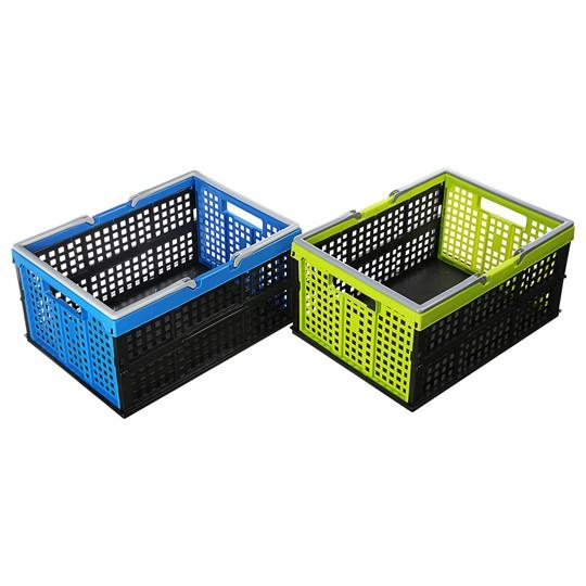 聯府KEYWAY 美式摺疊籃(大.中)塑膠籃 重疊籃 收納籃 折疊籃 置物籃 物流箱 儲物籃 置物箱 | 蝦皮購物