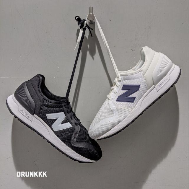 New Balance NB 247 247V3 白鞋 黑鞋 白底黑字 黑底白字 情侶鞋   蝦皮購物