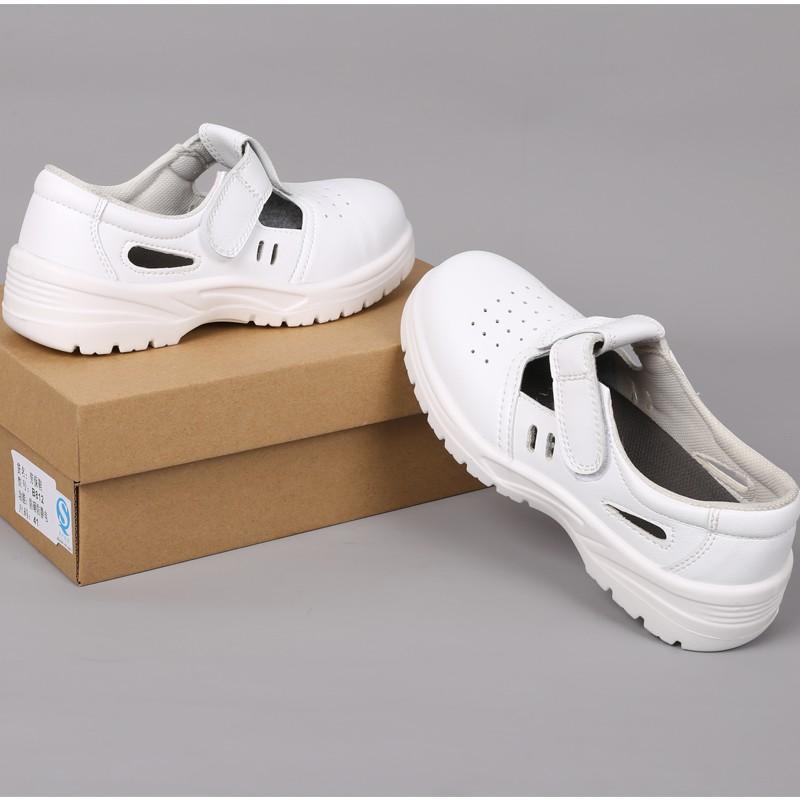 現貨熱銷鋼頭鞋夏天防靜電防砸安全鞋透氣工作鞋防臭無塵室食品廠鋼頭勞保防護鞋   蝦皮購物