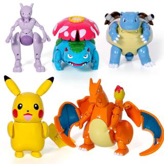 精靈寶可夢 寵物精靈皮卡丘 噴火龍 變形兒童玩具套裝 禮品   蝦皮購物