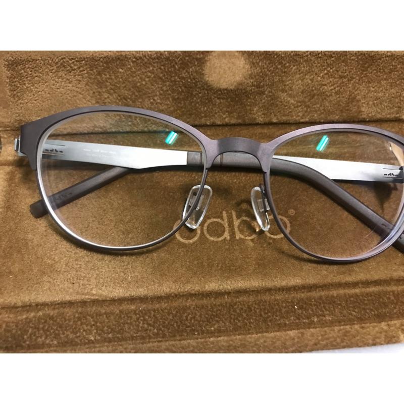odbo® 眼鏡 鈦金屬鏡框 棕色 附原廠眼鏡盒   蝦皮購物