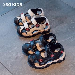 盛夏狂歡兒童包頭涼鞋2020夏季新款男孩軟底防滑時尚鞋子潮中大童男童童鞋   蝦皮購物