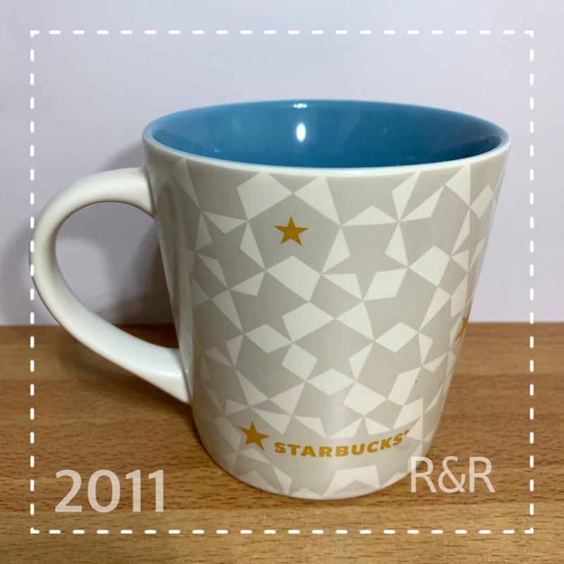 [星巴克馬克杯] Starbucks 星巴克 2011年絕版品 星星圖 馬克杯 骨瓷   蝦皮購物